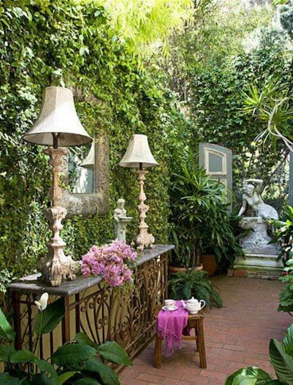 Kleiner Garten Ideen gartenideen lampen vintage