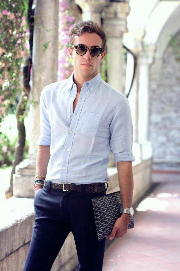 Männerhemd Herrenhemde hellblau herrenmode eleganter businessman