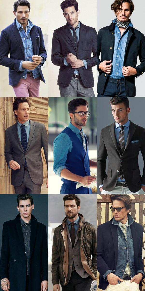 Männerhemd Herrenhemde jeanshemd herrenmode casual