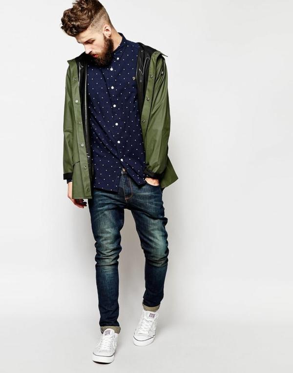 Männerhemd Herrenhemde sportliche herrenmode straßenmode hipster