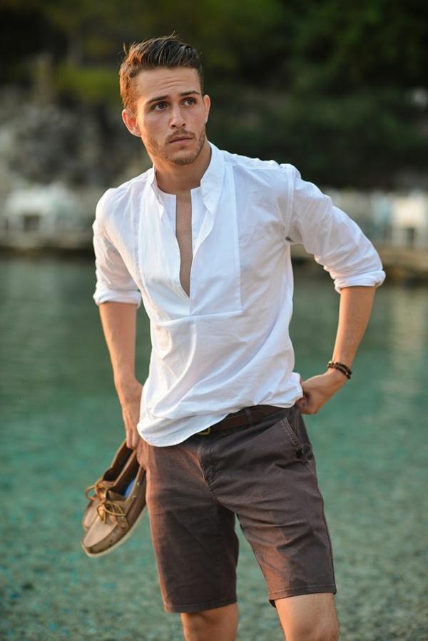 Männerhemd Herrenhemde weiß herrenmode casual sportlich
