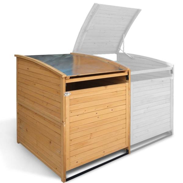 m lltonnenbox im garten so machen sie die abfalltonnen unsichtbar. Black Bedroom Furniture Sets. Home Design Ideas