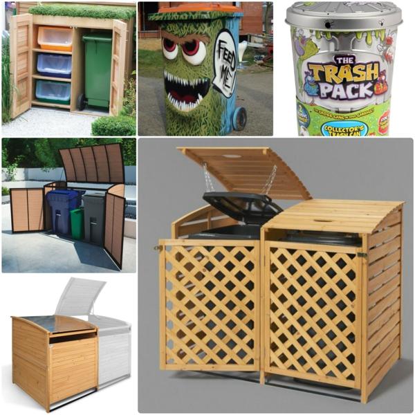 Mülltonnenbox im garten dekorieren und verstecken