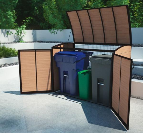 Mülltonnenbox im garten verstecken comfort plus design