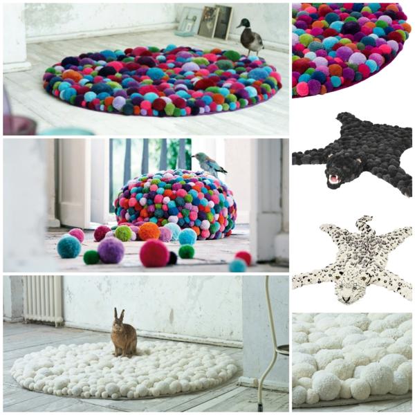 MYK designer teppiche bommel bunte teppiche designer möbel