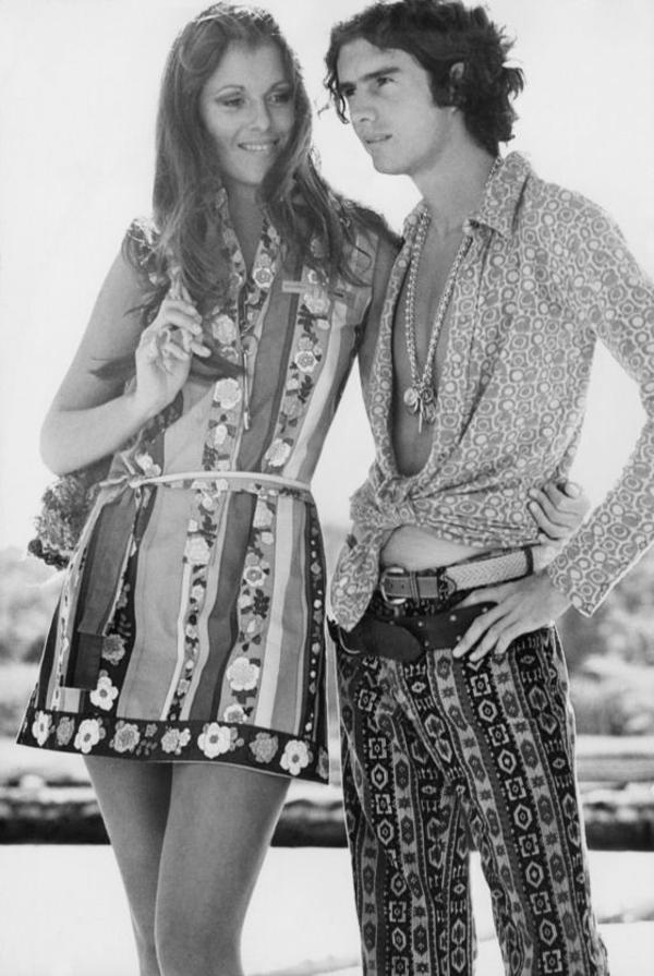 Mode 70er Männer herrenmode casual paar