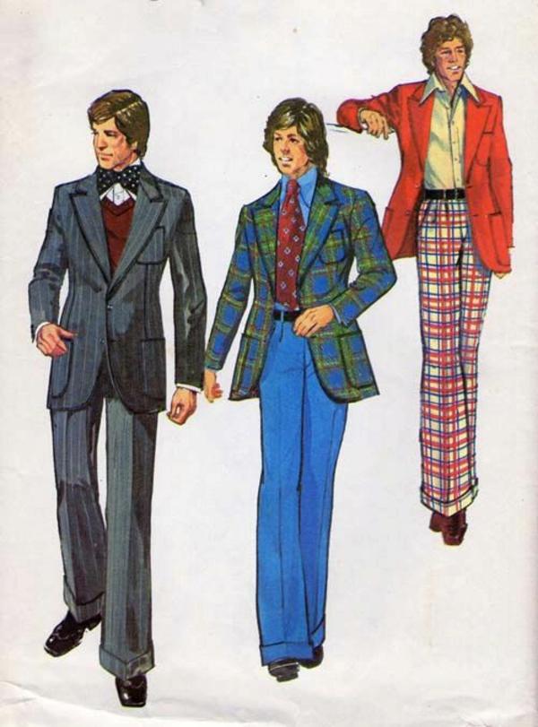 Mode 70er Männer herrenmode casual