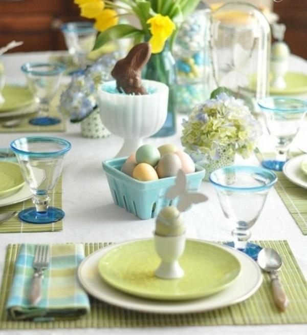 Ostern basteln Ideen kinder osternest osterhase eierhalter