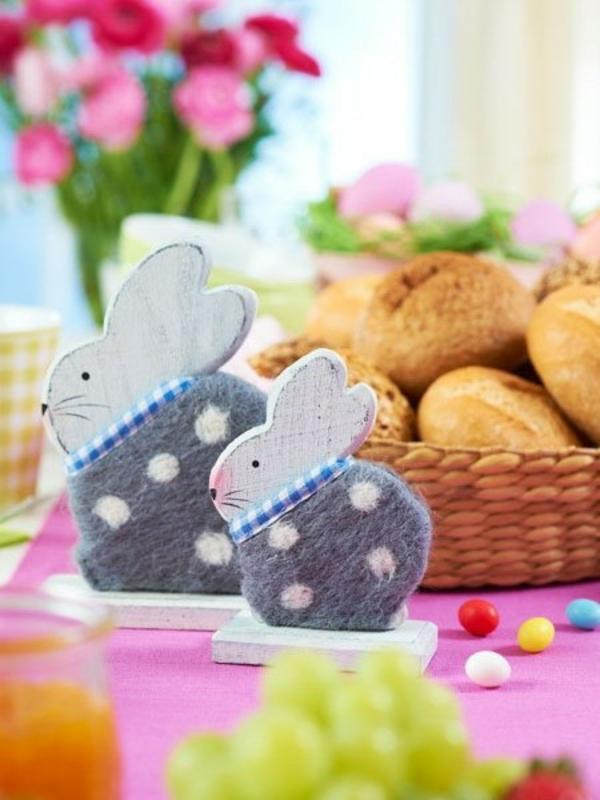 basteln Ostern Ideen kinder osternest osterhase hasen