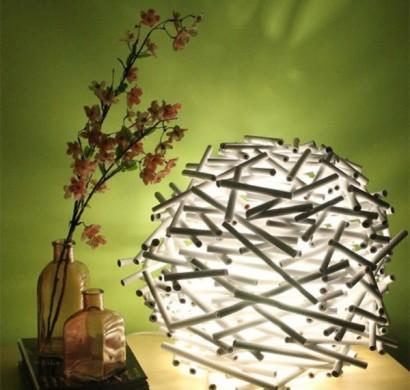 papier lampenschirm basteln diy lampen f r mehr visuelles interesse. Black Bedroom Furniture Sets. Home Design Ideas