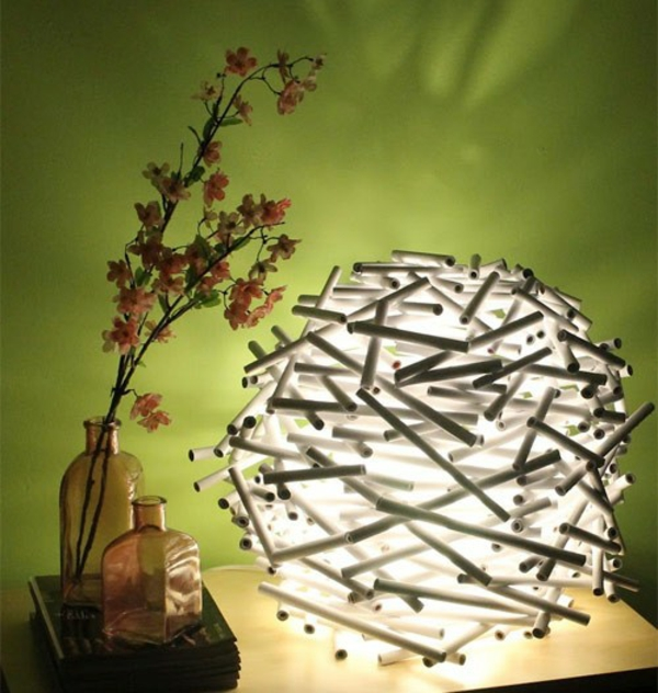 papier lampenschirm basteln diy lampen f r mehr. Black Bedroom Furniture Sets. Home Design Ideas