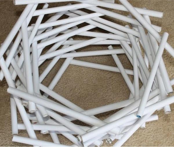 Papier Lampenschirm basteln weiß