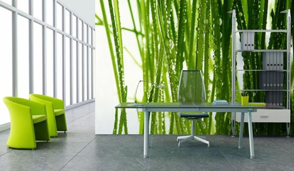 Wandtattoo als Wanddekoration grün natur