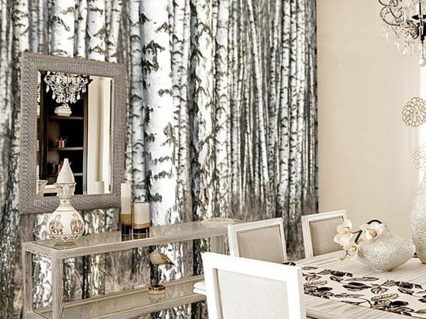 Wandaufkleber spiegel tisch Wanddekoration natur