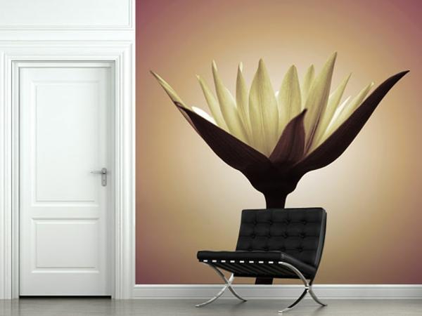 Wandaufkleber weiß Wanddekoration sessel