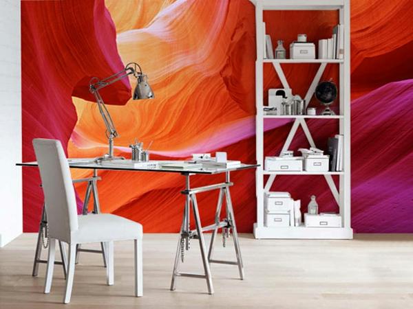 Wandaufkleber  tisch stühle Wanddekoration