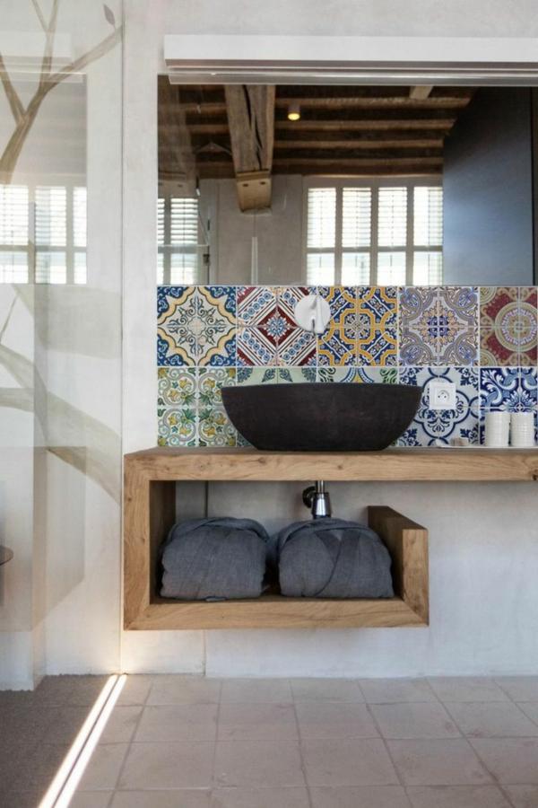 5417 Badezimmer Wandregal Regal mit Glasböden ohne Beleuchtung Marano