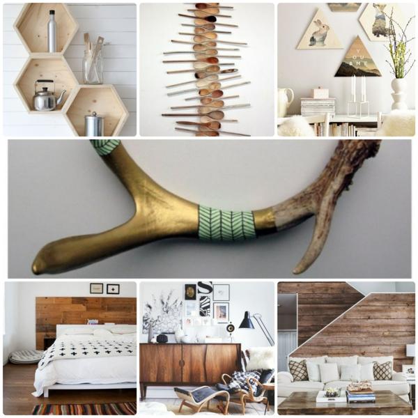 moderne wanddeko aus holz im rustikalen stil. Black Bedroom Furniture Sets. Home Design Ideas