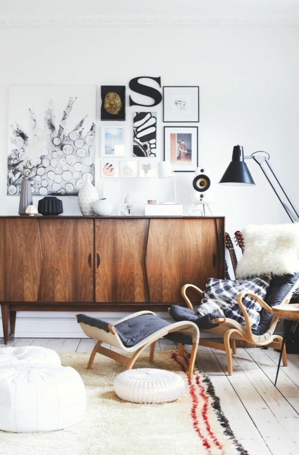 wanddeko wohnzimmer holz:Wanddeko aus Holz wohnzimmer möbel holz