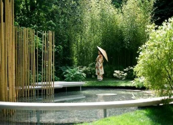 Zen Garten Anlegen japanische gärten bambus