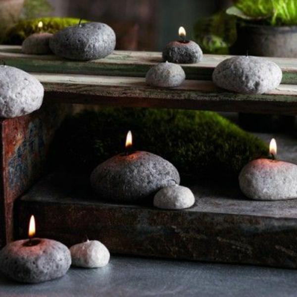Zen Garten japanische gärten Anlegen  kerzen