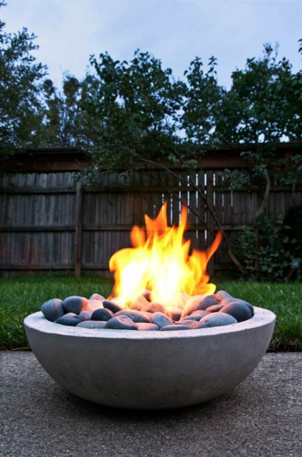 Zen Garten Anlegen japanische pflanzen feuerstelle