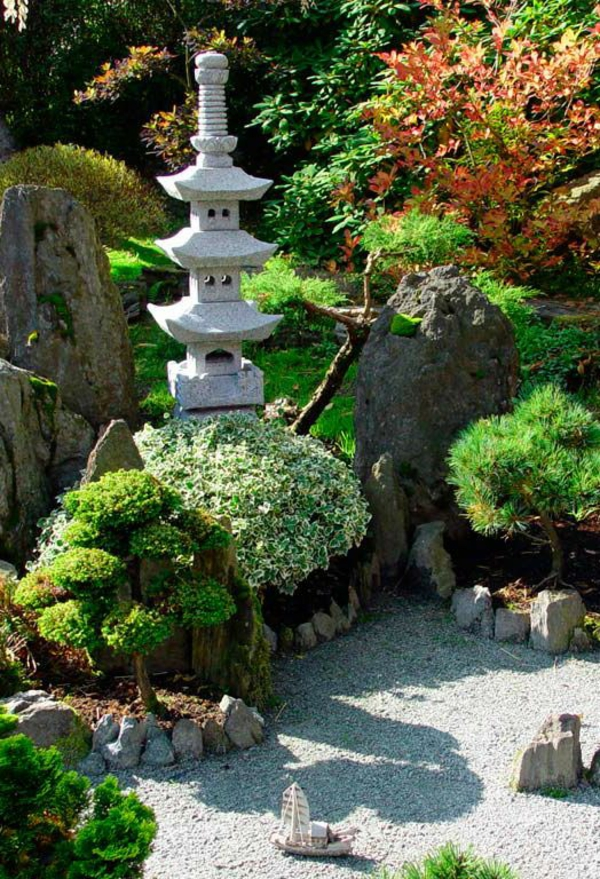 Zen Garten аnlegen japanische pflanzen grün
