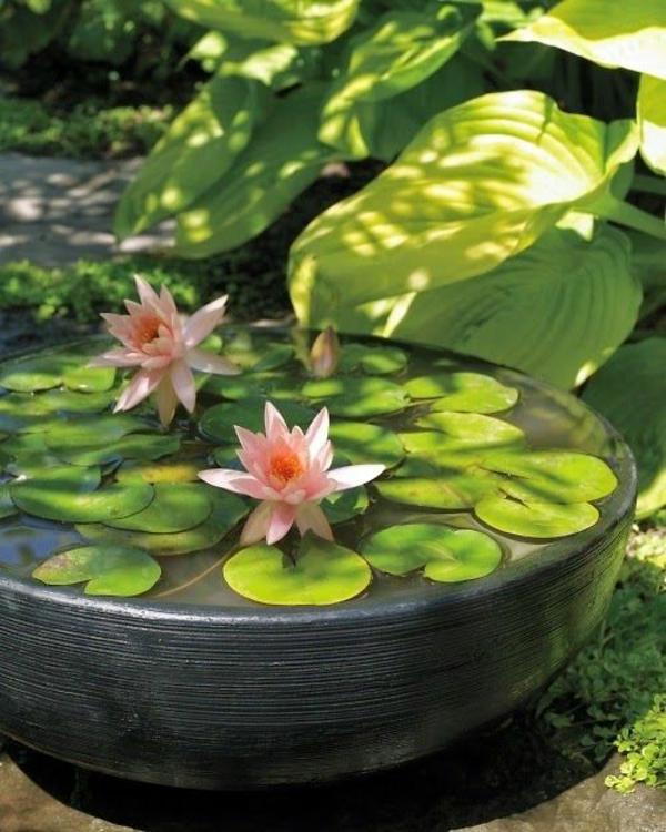 Zen Garten Anlegen japanische pflanzen lilie