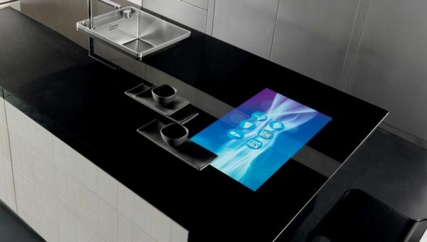 arbeitsplatten für küchen elegant schwarz küche einrichten