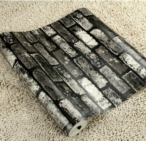 backstein tapete rustikale einrichtung steinoptik tapete