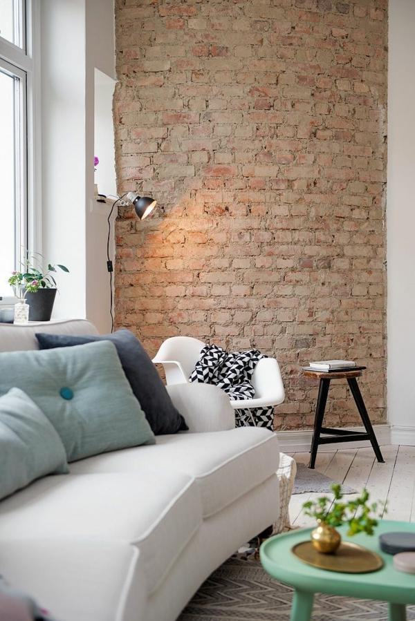 Backstein Tapete Schicke Rustikale Akzente In Der Modernen Wohnung