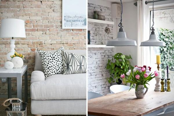 tapete wohnzimmer ideen stein - Stein Tapete Wohnzimmer Ideen