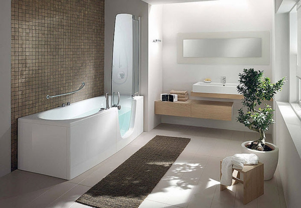 trennwand badewanne dusche raum und m beldesign inspiration. Black Bedroom Furniture Sets. Home Design Ideas