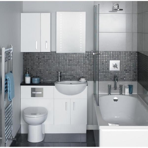 Trennwand Dusche Badewanne : badewanne trennwand glas kleines badezimmer gestalten