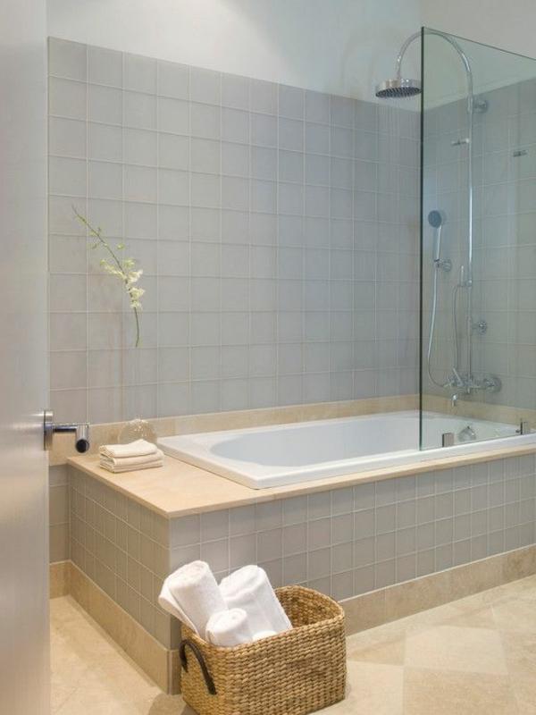 badezimer gestalten badewanne aufbewahrungskorb bad deko