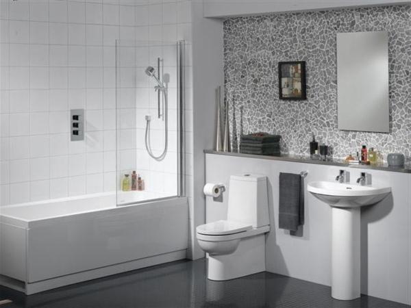 badezimmer gestalten tolle wandgestaltung rechteckige badewanne