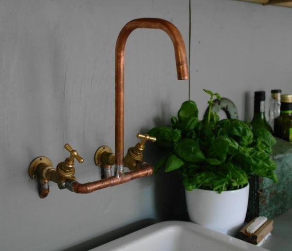 badezimmerarmatur badeinrichtung ideen spültischarmatur rustikal