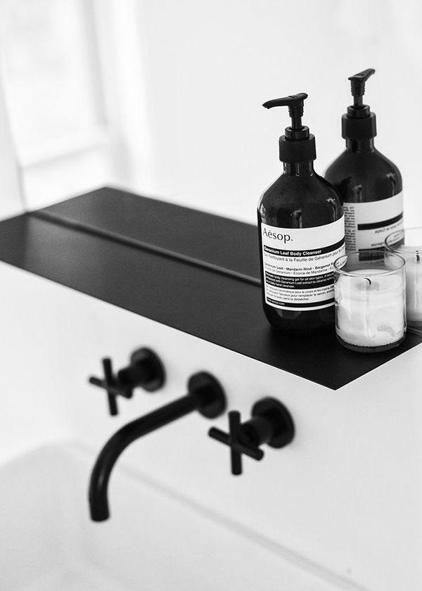 badezimmerarmatur rustikale badeinrichtung ideen spültischarmatur schwarz