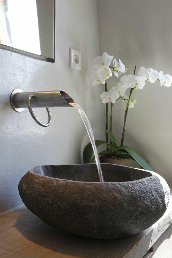 badezimmerarmatur rustikale badeinrichtung ideen spültischarmatur