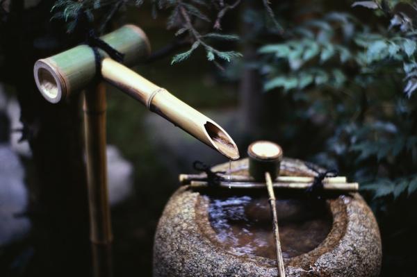 bambus deko, Gartenarbeit ideen