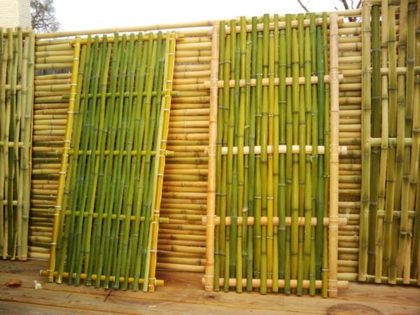 bambus deko bambuszaun stämme