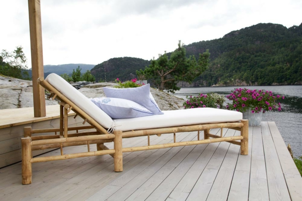 bambus deko bettliege auflage weiß
