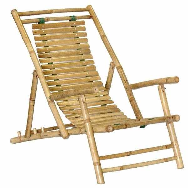 bambus deko gartensessel schlicht