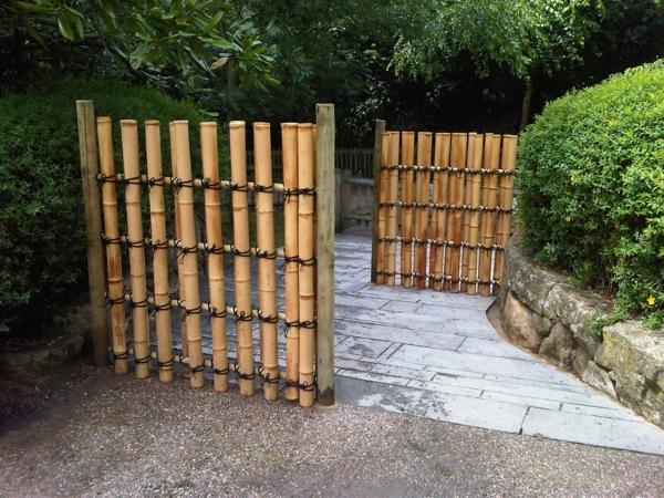 Bambus deko for Deko gartenzaun