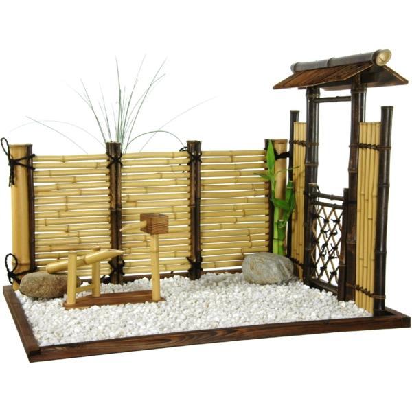 Bambus Deko Zen Garten Feng Shui Modell