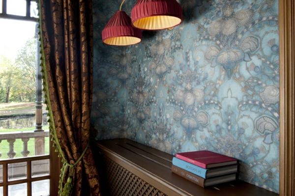 Barock tapete stil aus alten zeiten in zeitgen ssischer form - Gardinen barock ...
