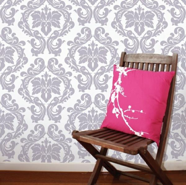 barock tapeten schöne ornamente stilvoll wandgestaltung