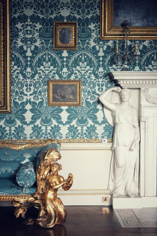 Muster Tapete Wohnzimmer mit beste stil für ihr haus design ideen