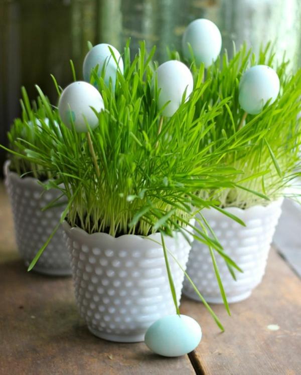 bastelideen frühling blumentöpfe eier