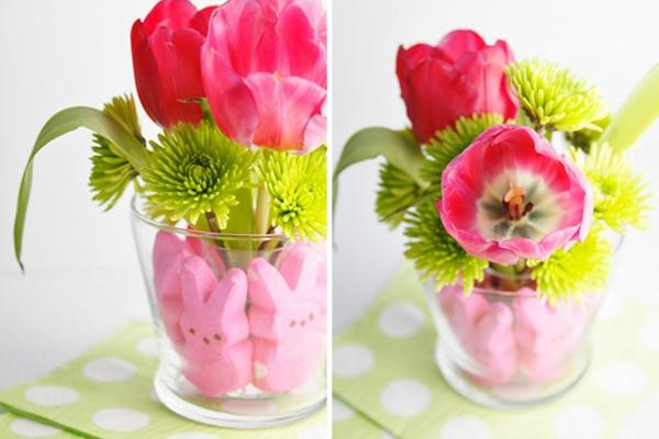 bastelideen frühling frisch tulpen gartenblumen